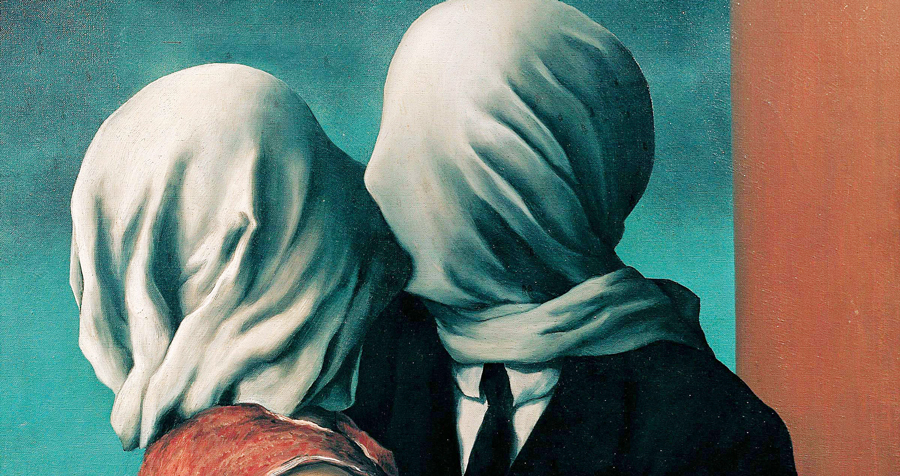 Rene-Magritte-The-Lovers